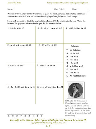 Compound Inequalities Worksheet Answers Free solving Pound Inequalities Worksheet
