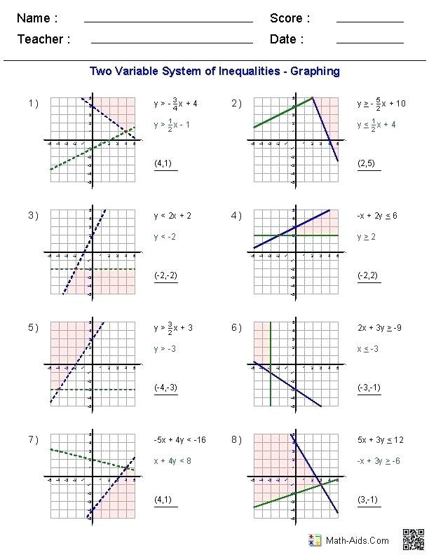 Compound Inequalities Worksheet Answers Pound Inequalities Worksheet Answers Promotiontablecovers
