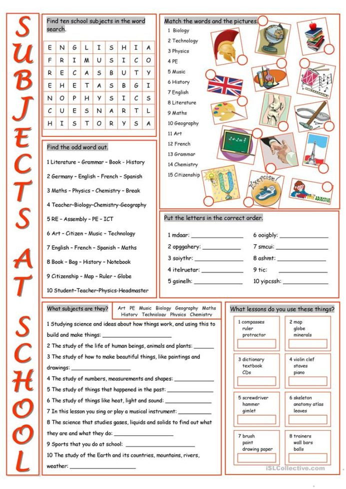 Computer Worksheets for Middle School French School Vocabulary Worksheets Pre Reading High
