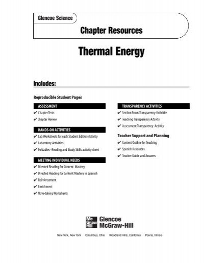 Conduction Convection and Radiation Worksheet Chapter 6 Resource thermal Energy Garden Valley