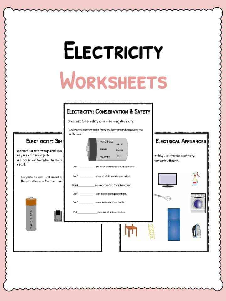 Conductors and Insulators Worksheet Electricity Worksheets