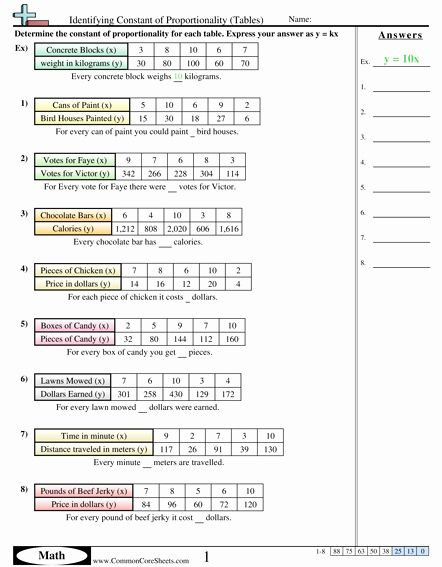 Constant Of Proportionality Worksheet 50 Ratios and Rates Worksheet In 2020