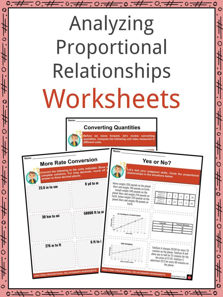 Constant Of Proportionality Worksheet Analyzing Proportional Relationships Facts & Worksheets for Kids