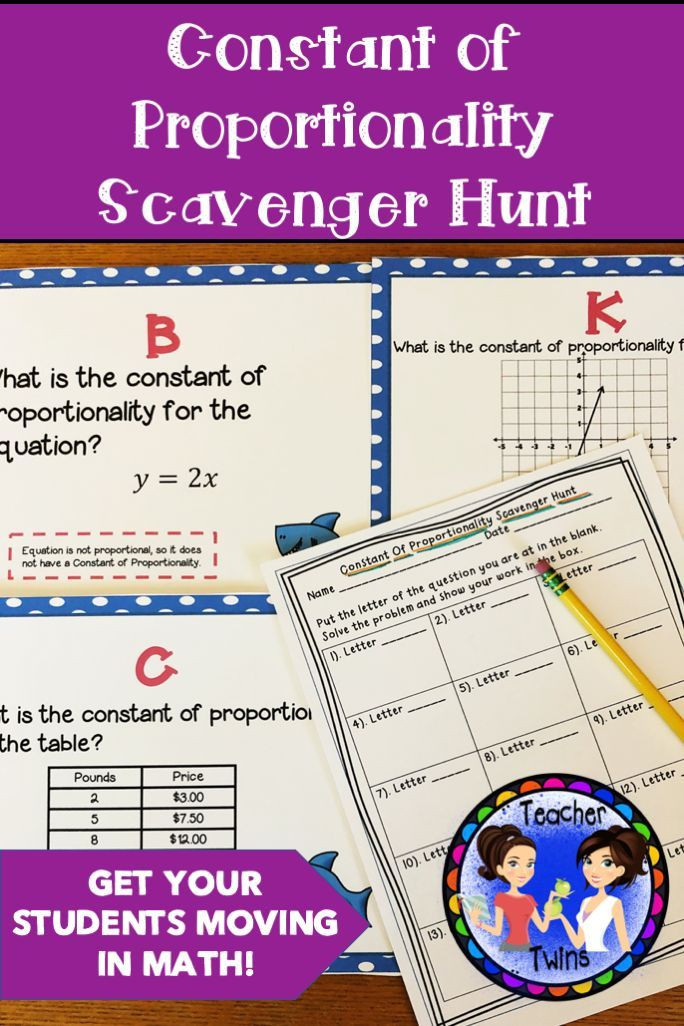 Constant Of Proportionality Worksheet Constant Of Proportionality Scavenger Hunt