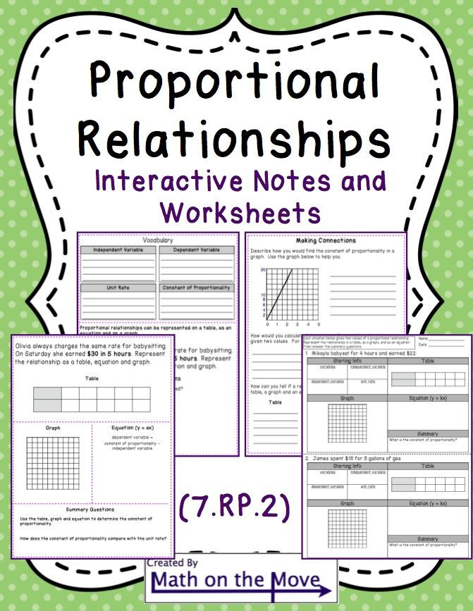 Constant Of Proportionality Worksheet Proportional Relationships Tables Graphs Equations