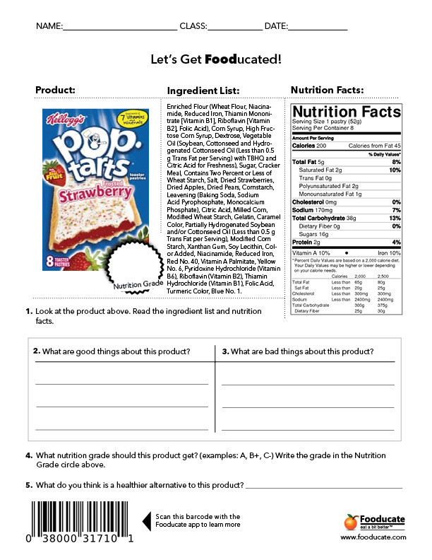 Cooking Worksheets for Middle School Fun Nutrition Worksheets for Kids