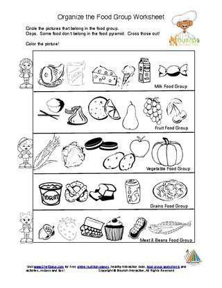 Cooking Worksheets for Middle School Kids Food Pyramid Food Groups Learning Nutrition Worksheet K