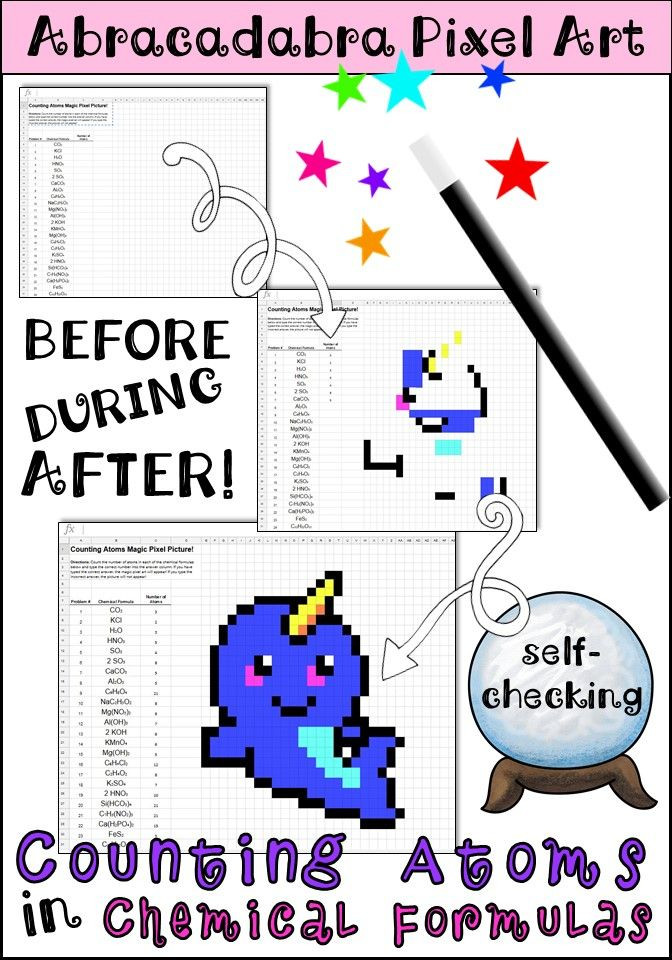 Counting atoms Worksheet Answer Key Counting atoms In Chemical formulas Pixel Art Digital Review