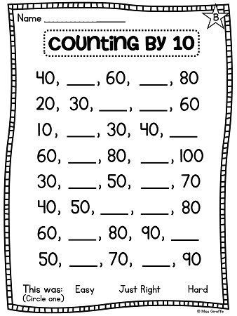 Counting by 10s Worksheet Counting by 10s Worksheets and Center Activities to Help