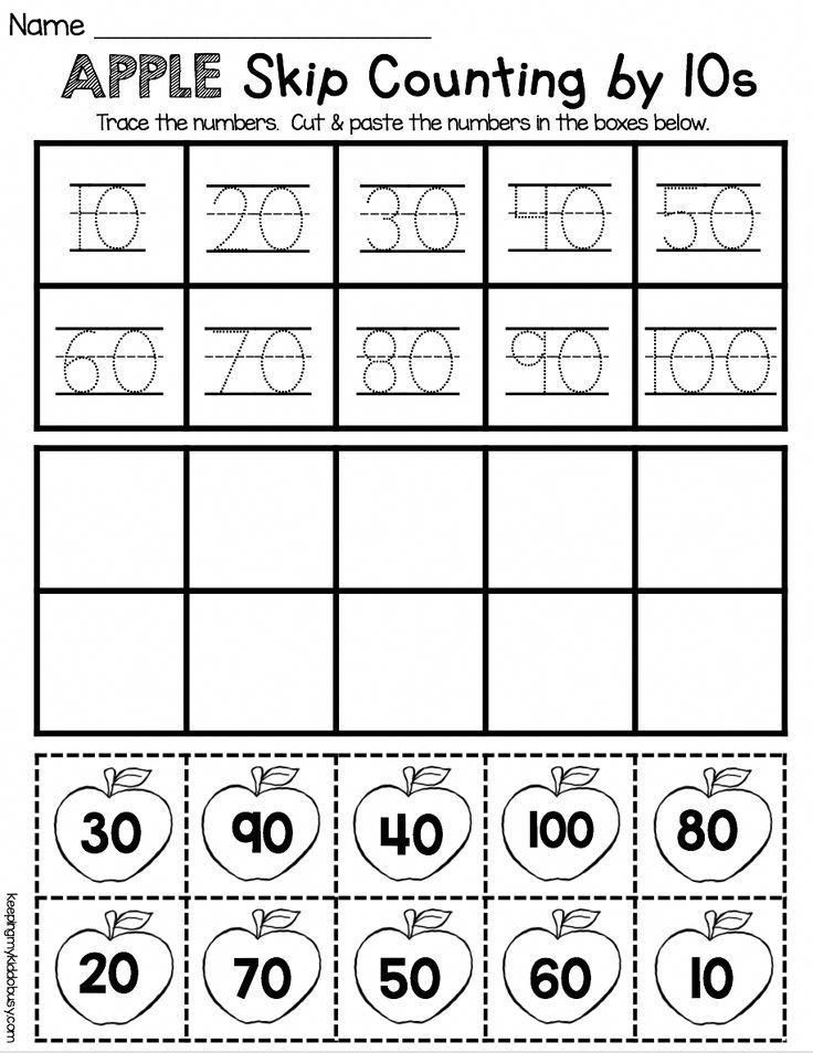 Counting by 10s Worksheet Skip Counting by Tens Worksheet Easy No Prep Activity for
