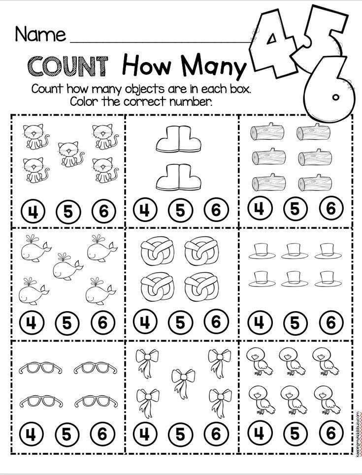 Counting Worksheets Preschool Counting and Cardinality Freebies