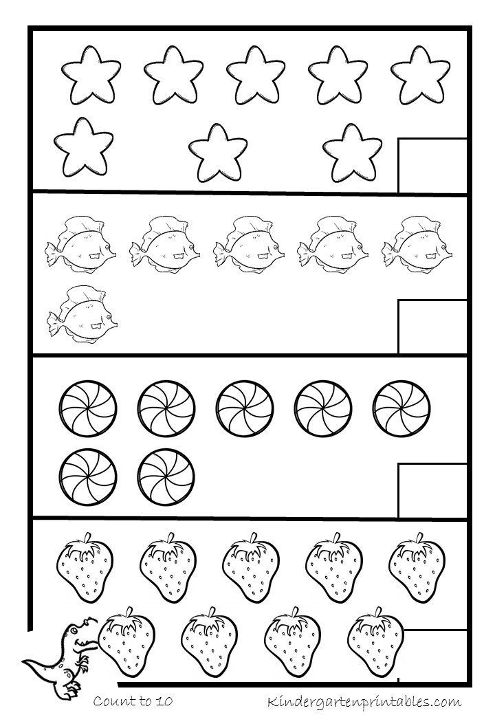 Counting Worksheets Preschool Counting Objects to 10 Worksheets Free Printables