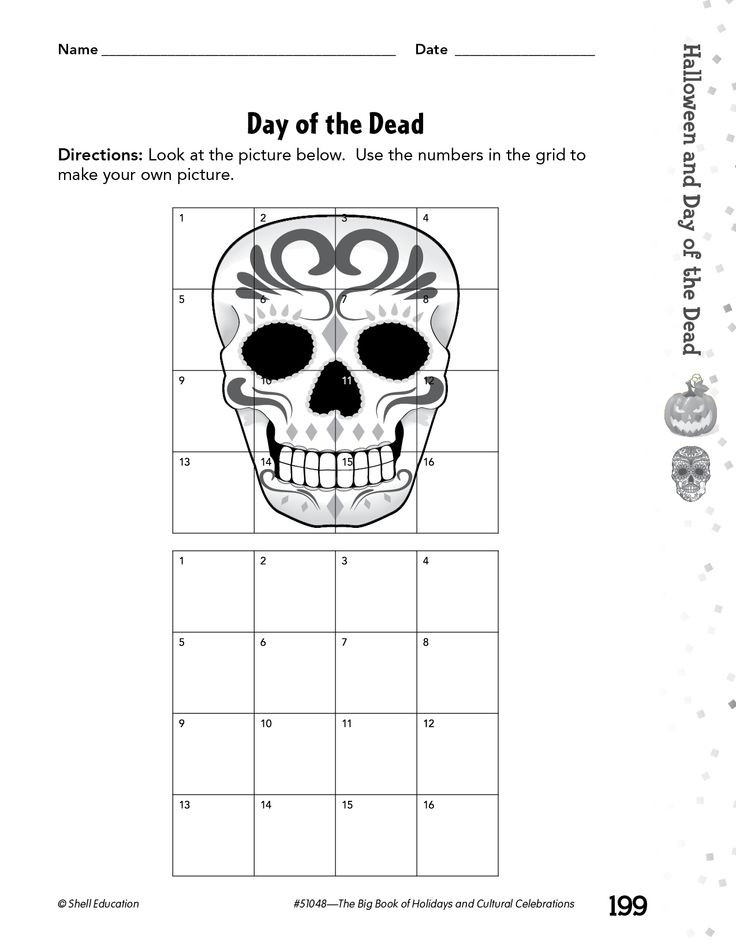 Dia De Los Muertos Worksheet 28 [ Day the Dead Worksheets for Students ]