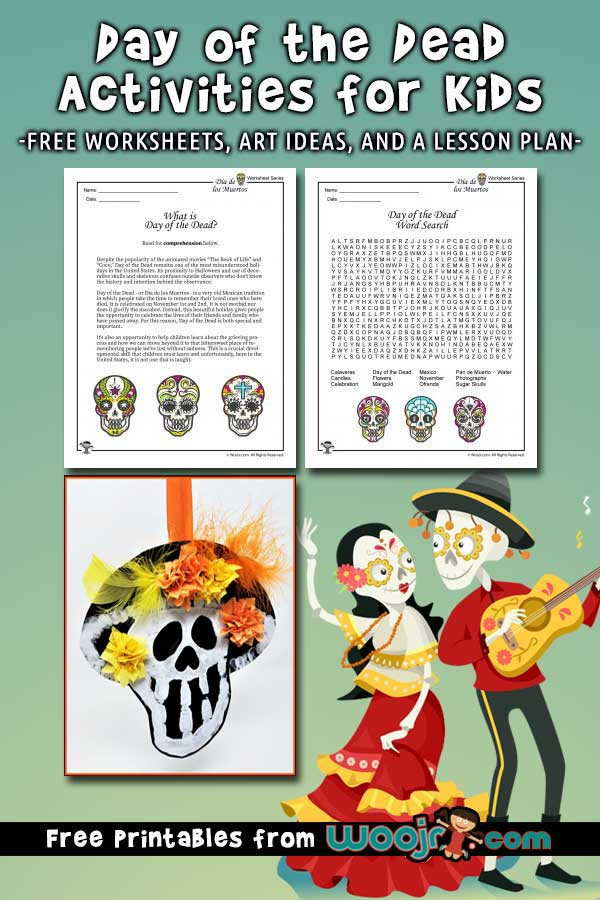 Dia De Los Muertos Worksheet Day Of the Dead Activities Worksheets & Lesson Plan