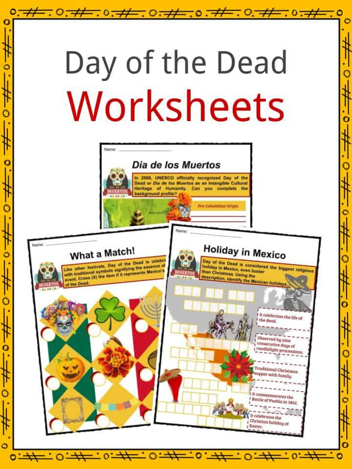 Dia De Los Muertos Worksheet Day Of the Dead Facts Worksheets Observance Traditions