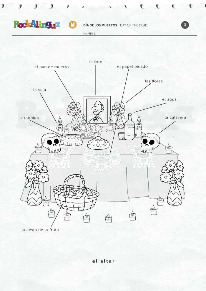 Dia De Los Muertos Worksheet Day Of the Dead