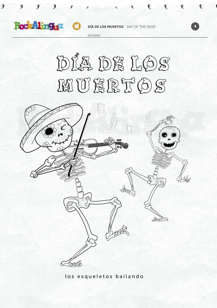 Dia De Los Muertos Worksheet Day Of the Dead Picture Dictionary