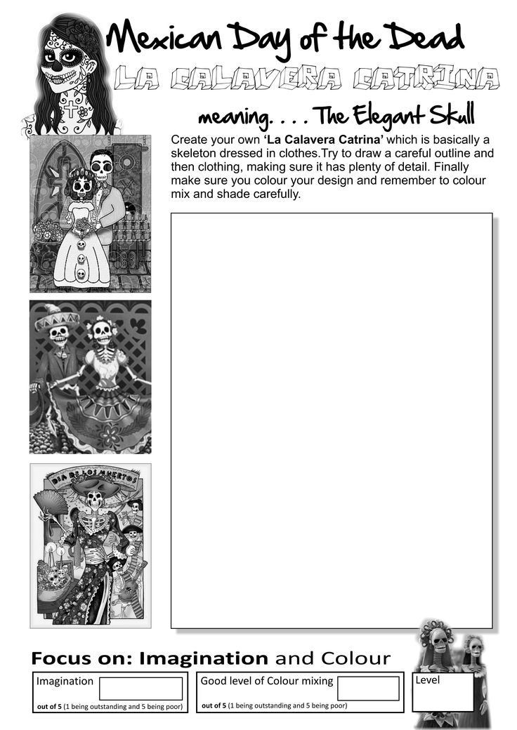 Dia De Los Muertos Worksheet English Worksheets Day Of the Dead Worksheet
