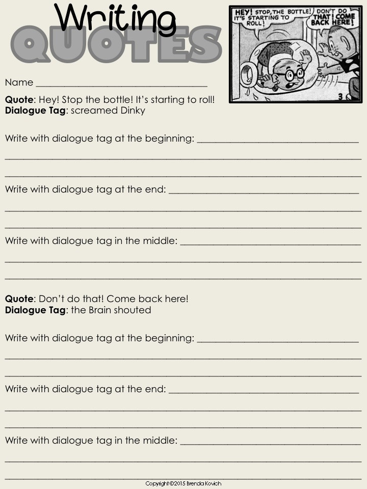 Dialogue Worksheets for Middle School Teaching Dialogue with Language Activities for Kids Enjoy