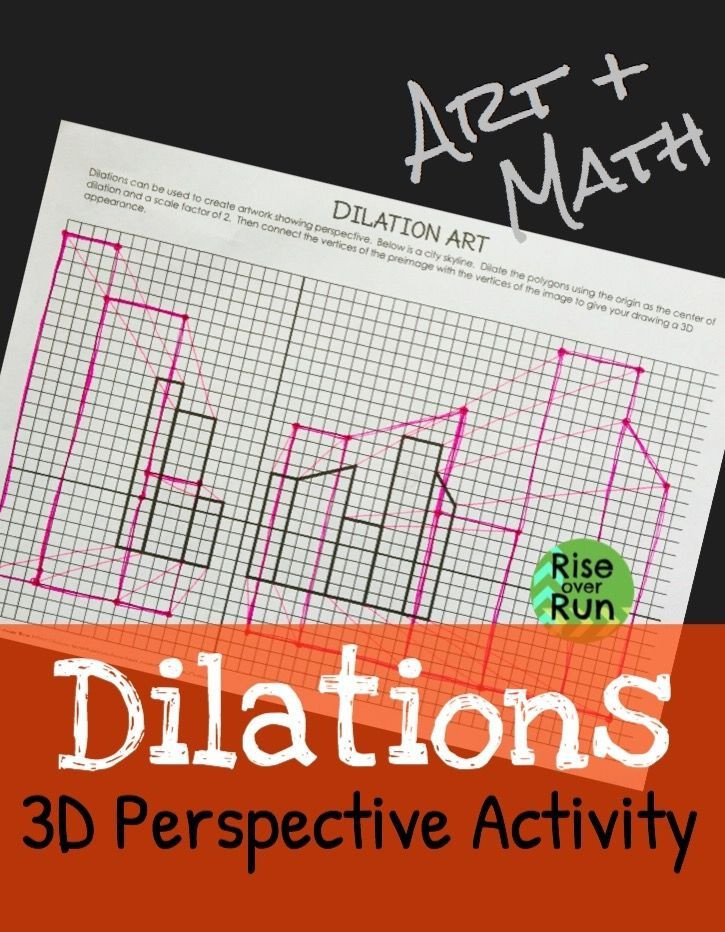 Dilations Worksheet with Answers Art and Math Practice Dilations with This Fun Activity