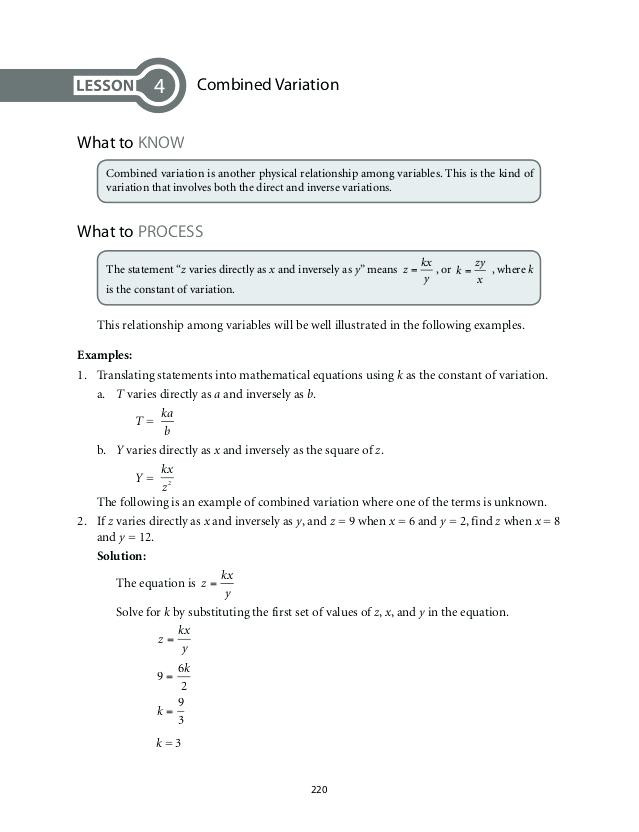Direct Variation Worksheet with Answers Direct Inverse and Joint Variation Worksheet Answers Nidecmege