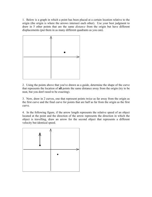 Displacement and Velocity Worksheet In Class Worksheet On Displacement and Velocity