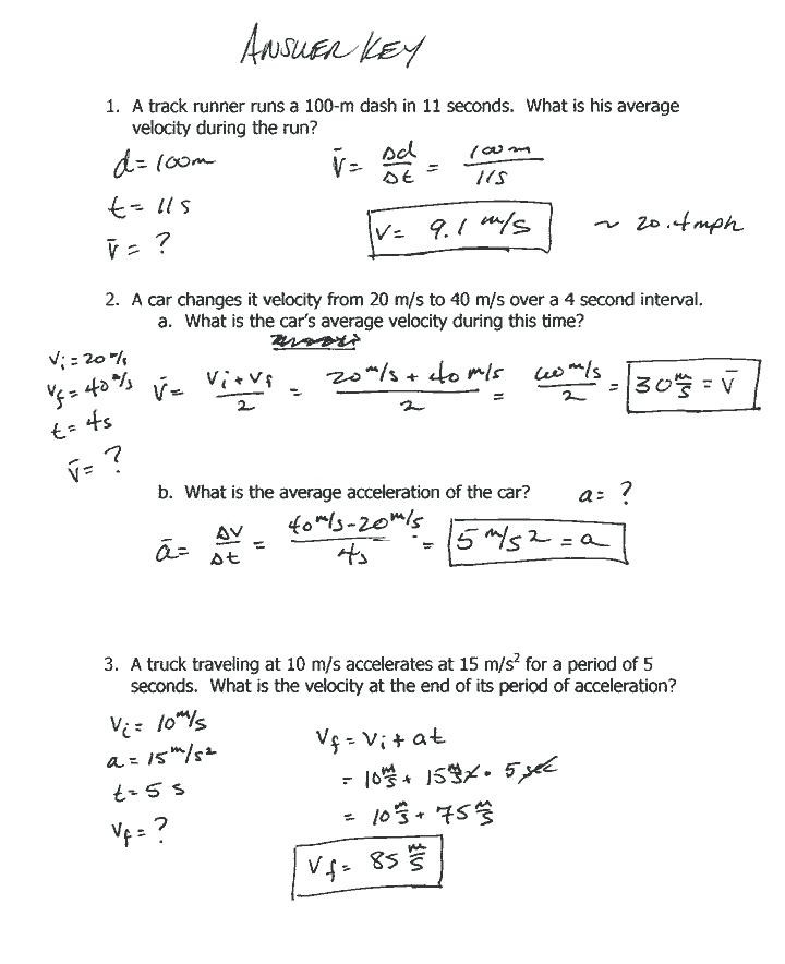 Displacement and Velocity Worksheet Physics Distance and Displacement Worksheet Answers