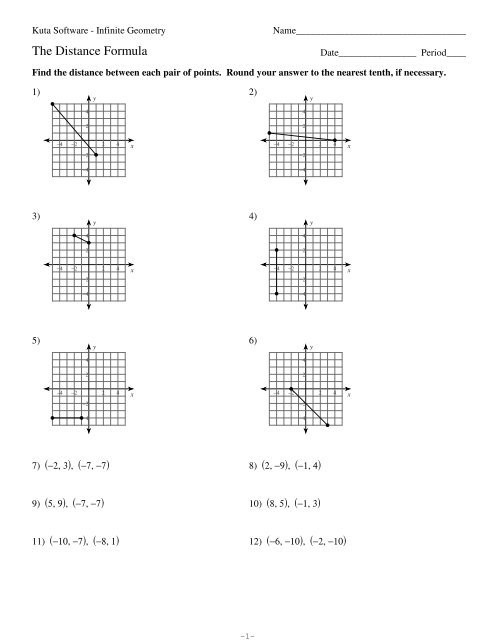 Distance and Midpoint Worksheet Distance formula Worksheet Geometry Promotiontablecovers