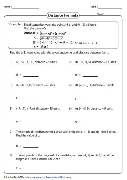 Distance formula Word Problems Worksheet Distance formula Word Problems Worksheet 2 In 2020