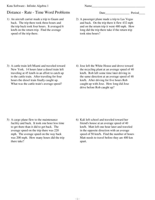 Distance formula Word Problems Worksheet Uniform Motion Word Problems Lesson Plans & Worksheets