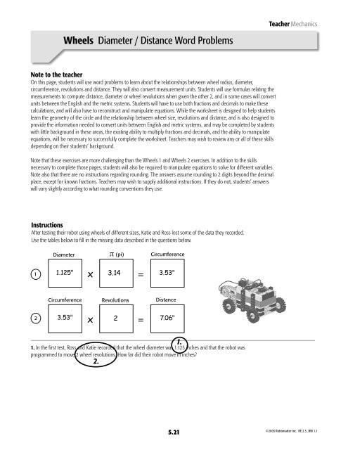Distance formula Word Problems Worksheet Wheels Diameter Distance Word Problems