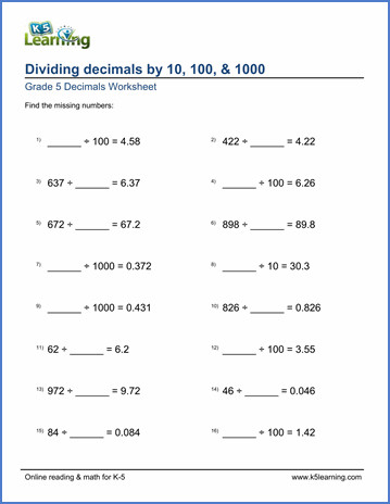 Dividing Decimals Worksheet Pdf Dividing Decimals Worksheet 5th Grade Pdf Archives