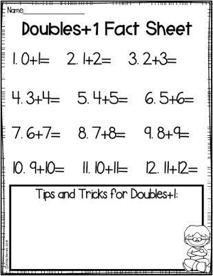 Doubles Plus One Worksheet Doubles and Doubles Plus E Activities
