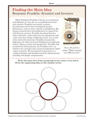 Eclipse Worksheets for Middle School Free Main Idea Worksheets Middle School
