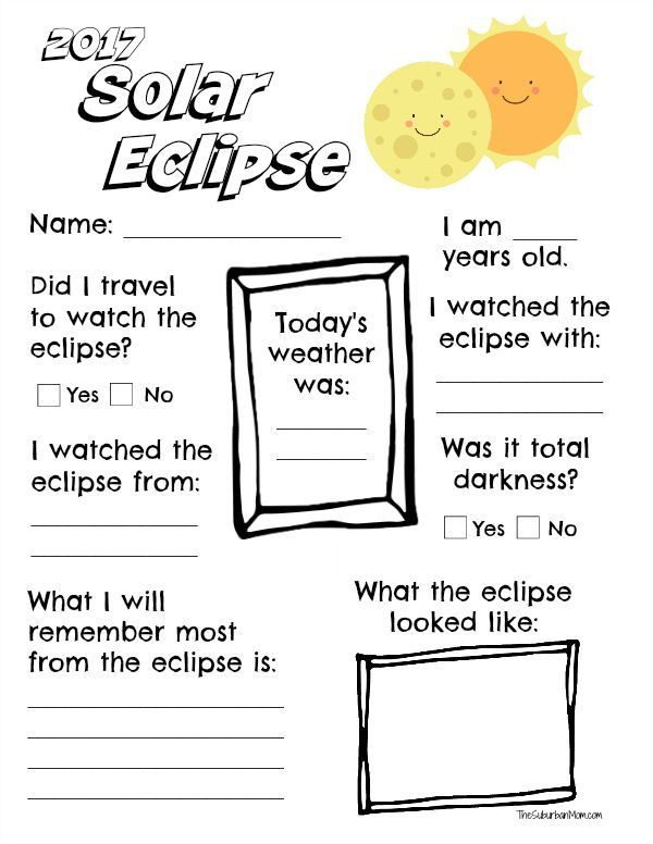 Eclipse Worksheets for Middle School Memorate the solar Eclipse with A Free Printable 2017