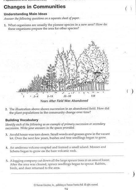 Ecological Succession Worksheet Answer Key Pin by George andersen On Ecological Succession Primary