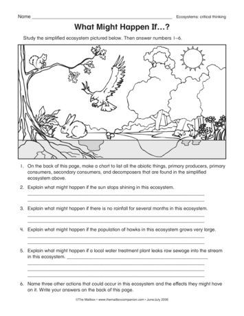 Ecology Worksheets Middle School What Might Happen if Lesson Plans the Mailbox