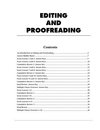 Editing Worksheets High School Glencoe Proofreading by Belen Fagundez issuu