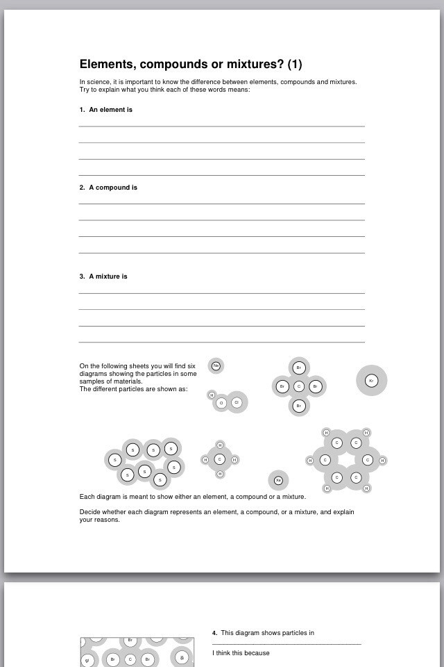 Elements and Compounds Worksheet Day 71 – Rsc Great Worksheets Modchem Chemchat