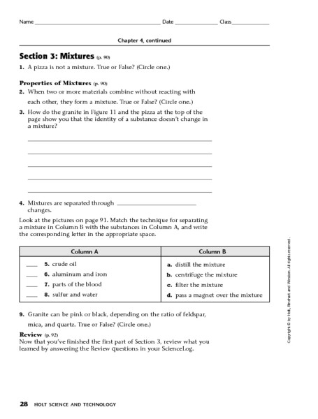 Elements and Compounds Worksheet Elements Pounds and Mixtures Page 2 Worksheet for 5th