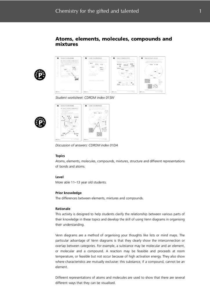Elements Compounds Mixtures Worksheet Answers atoms Elements Molecules Pounds and Mixtures