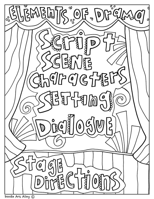 Elements Of Drama Worksheet Elements Of Drama Classroom Doodles