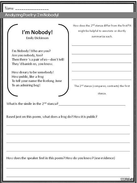 Elements Of Poetry Worksheet Poetry Analysis Sparkles Smiles and Successful Students
