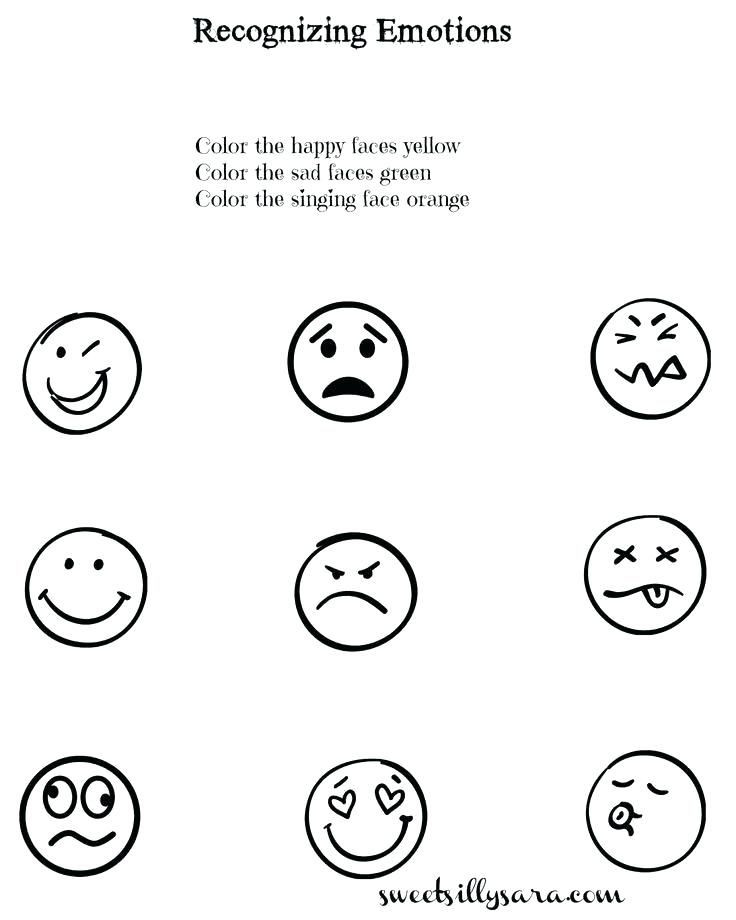 Emotions Worksheets for Preschoolers Emotions Worksheets for Children and Teaching Lesson Plan