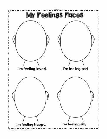 Emotions Worksheets for Preschoolers Feelings Worksheets