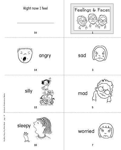 Emotions Worksheets for Preschoolers Minibook Feelings and Faces