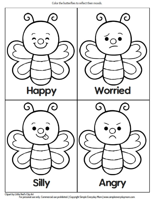 Emotions Worksheets for Preschoolers Printable Preschool Bug Activities for Learning & Fun toys
