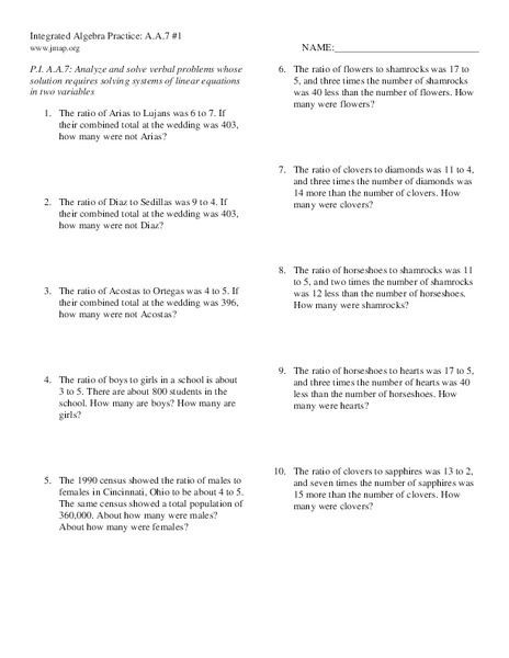 Equation Word Problems Worksheet Linear Equations Word Problems Worksheet with solutions Pdf