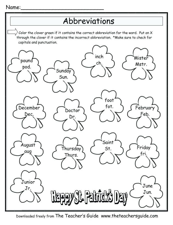 Evaluating Variable Expressions Worksheet Leprechaun for Kindergarten St Worksheet Junior Worksheets