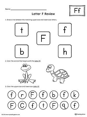 F Worksheets for Preschool All About Letter F Printable Worksheet